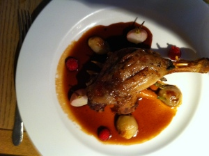 Confit of duck at Leeds Seventeen